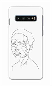 Okteq thin slim fit case forSamsung Galaxy S10 - female face06 by Okteq