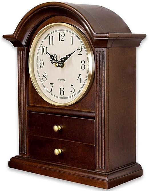 A-ZHP Relojes de Escritorio Reloj de Mesa para Sala de Estar ...