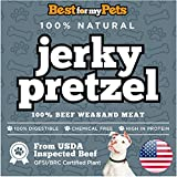 Best For My Pets Pretzel Jerky Dog Treats - Training Treats Beef Sticks Puppy Chews - Highest Quality USA-Made - Guarantees Flavor and Smell Will Make Your Dog Very Happy (16-ounce)