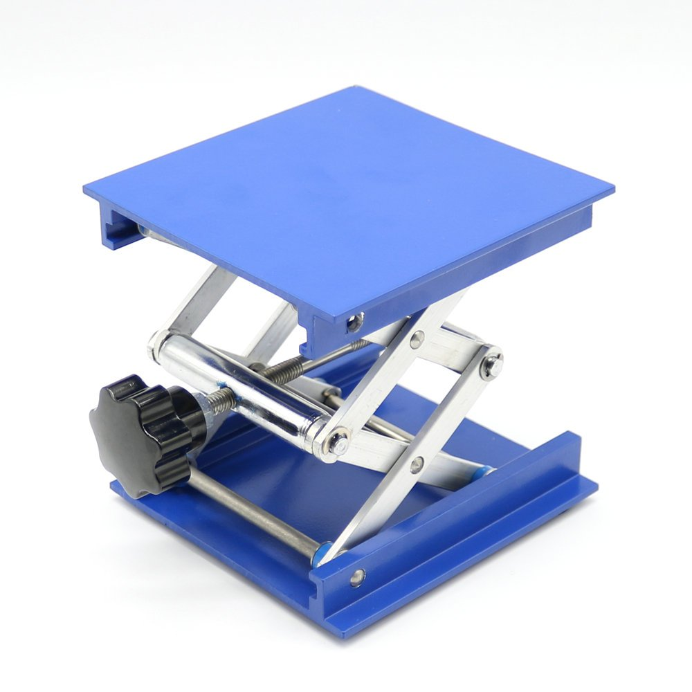 4'' Aluminum Lab-Lift Lifting Platforms Stand Rack Scissor Lab Jack 100x100x150mm