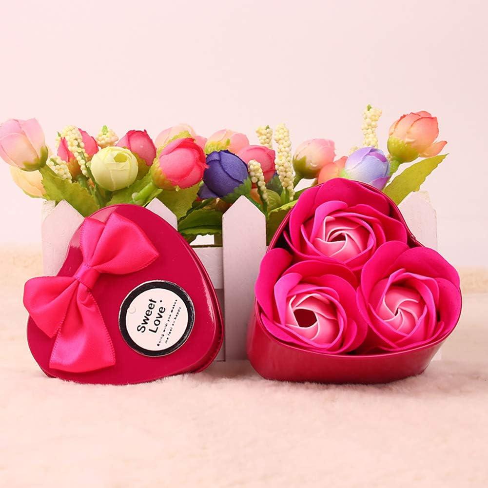 Hilai 1 Pack Flora Jabón de baño rosa jabón flor romántico baño ...