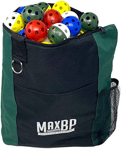 MaxBP Golf Wiffle Balls and Bag