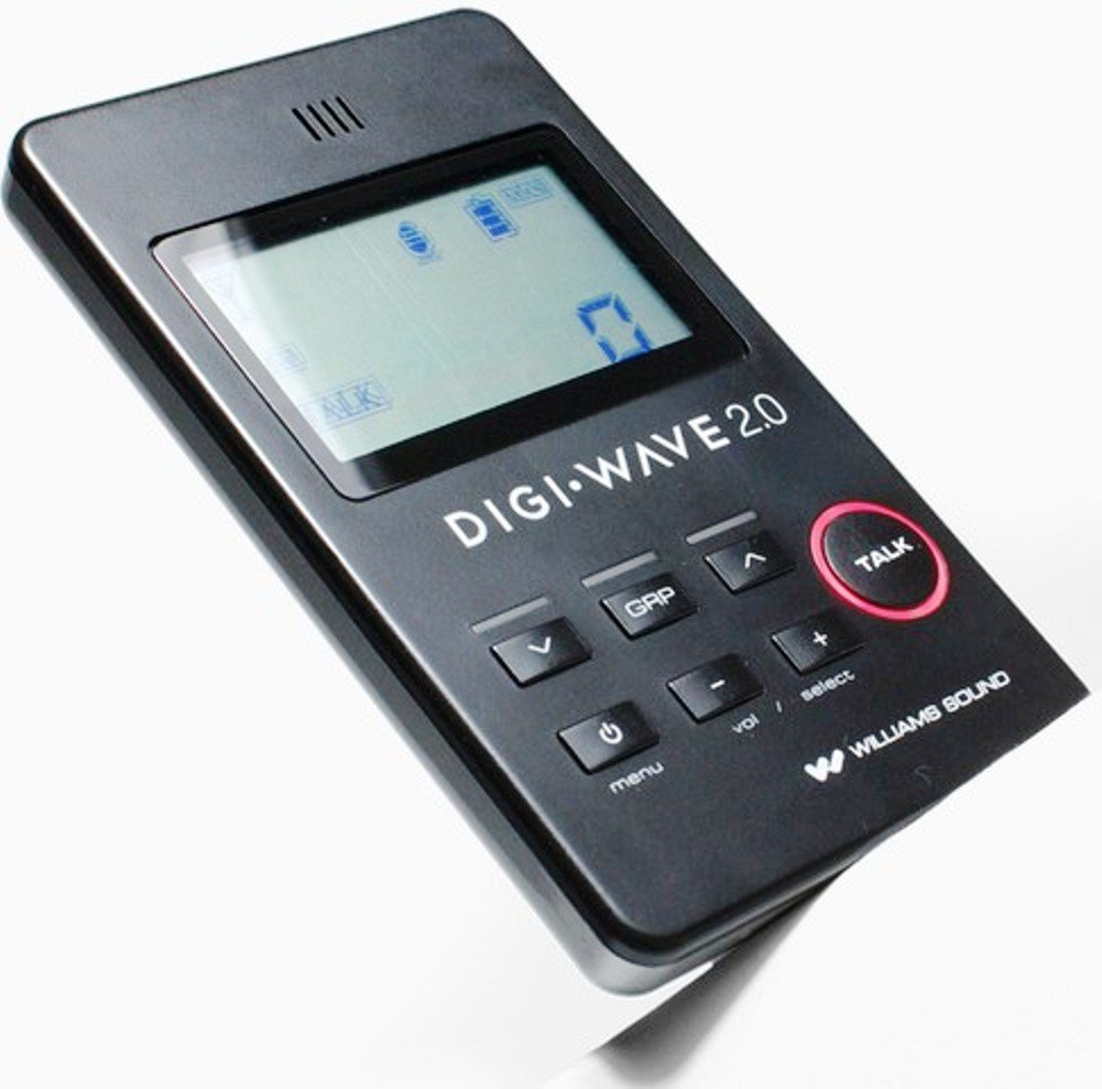 Williams Sound DLT 100 2.0 Digi-Wave Digital Transceiver, Black and Silver Fits with DLT 100 2.0, DLR 50, DLR 60, DLR 60 2.0 systems only, Includes: (1) DLT 100 2.0 Transceiver and (1) TFP 045 Charger with cable by Williams Sound