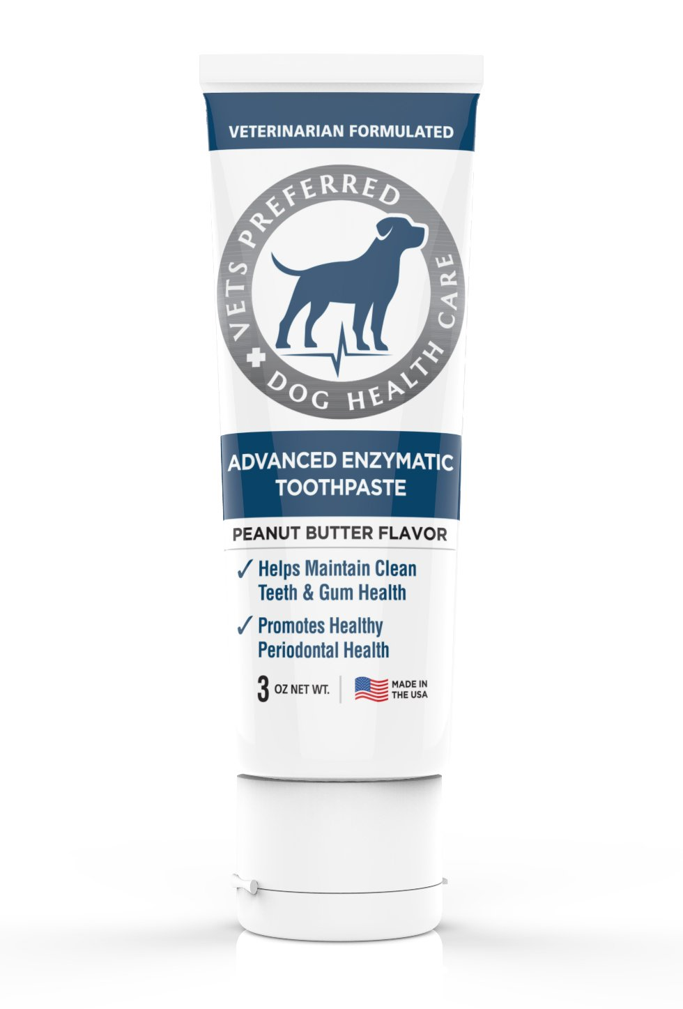 Vets Preferred Advanced Enzymatic Toothpaste for Dogs - Veterinarian-Grade, Safe and Natural Dog Toothpaste - Freshens Dog Breath, Fights Plaque and Reduces Tartar, Peanut Butter Flavor by Vets Preferred