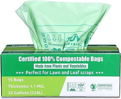 Amazon.com: primode bolsas biodegradables, césped y Leaf ...