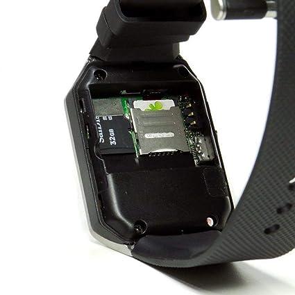 Montre Connectée Compatible avec Huawei P20 Lite, CEKA TECH® Montres Connectée Bluetooth, Smart Watch, avec Caméra, Écran Incurvé Tactile, Support SIM/TF ...