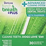 Tropiclean 30 Count Fresh Breath Plus Chews Advanced Cleaning Cube Dental Care