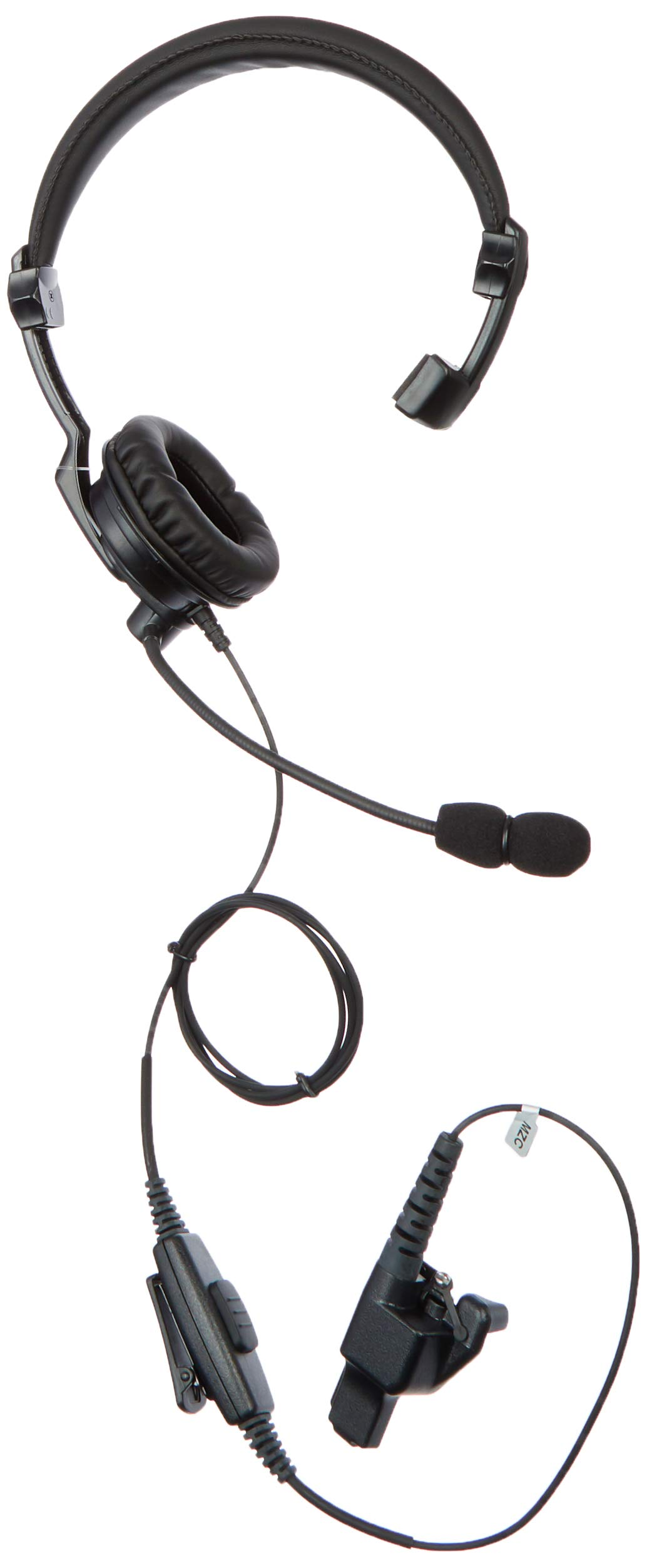 PRYME HLP-SNL-23 Hlp-SNL Series - Lightweight Padded Headset: Rugged Over-The-Head Headset for Portable Radios with Noise-Cancelling Boom Mic & Padded Speaker, Black