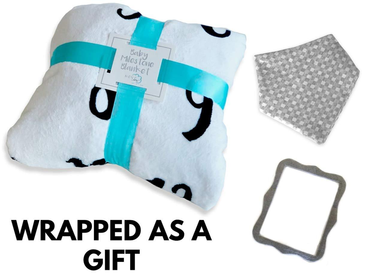 Amazon.com: Manta mensual con diseño de hito para bebé ...