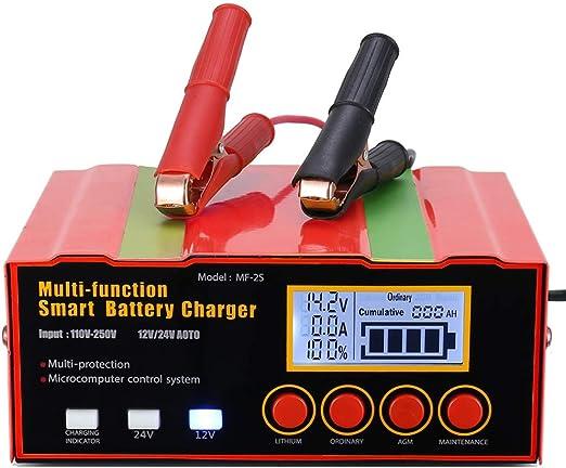 Aibeau Ladegerät Autobatterie 12a 12v 24v Kfz Batterieladegerät Vollautomatisches Intelligentes Erhaltungsladegerät Geeignet Für Lithiumbatterien Agm Blei Säure Batterien Auto