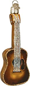 Old World Christmas Musical Instruments Glass Blown Ornaments for Christmas Tree Guitar