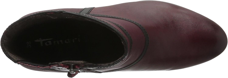 Tamaris 25017, Bottes Classiques Femme Rouge Merlot 537