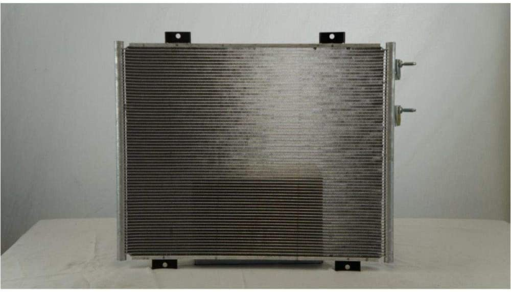 All Aluminum Air Condition Condenser 1 Row for 2005-2011 Dodge Dakota 2006-2009 Mitsubishi Raider Without Oil Cooler CU3666 55056352AC by GIMAE 1 Year Warranty