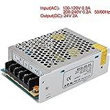 TOOGOO(R) AC 110V 220V a DC 24V 2A 48W voltaggio trasformatore interruttore Alimentazione Elettrica per Led Strip