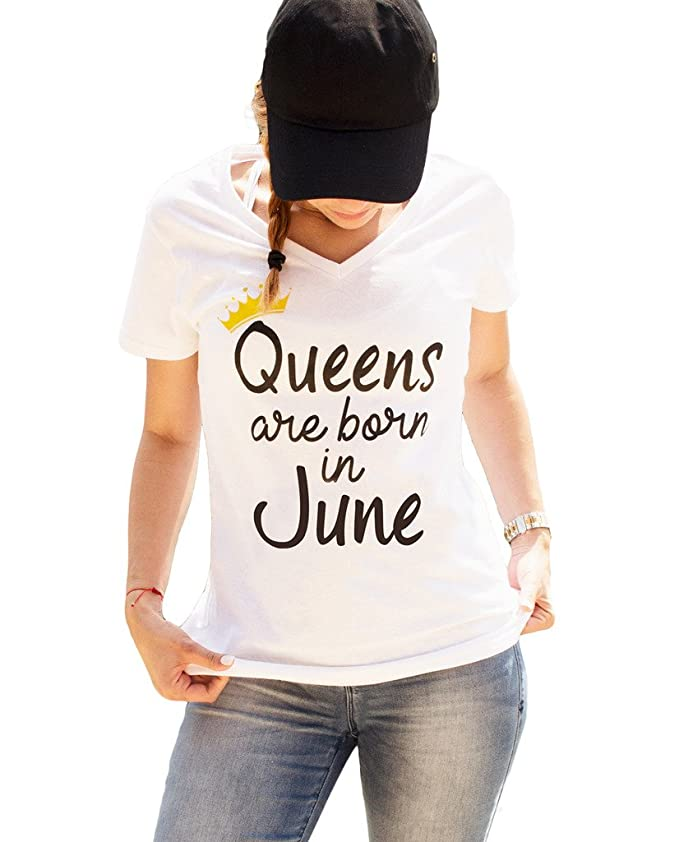 f0c7cff8 Amazon.com: Queens are Born in June Birthday Shirt Women's Gift by LeRage:  Clothing