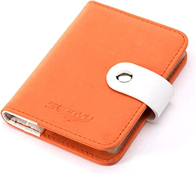 Unisex Men Women PU Leather Business ID Credit Card Pocket Case Wallet Holder