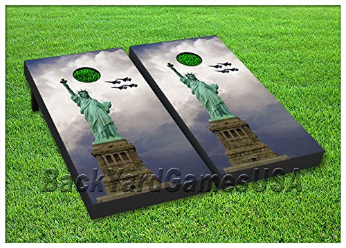 VINYL WRAPS Statue of Liberty Cornhole Board DECALS Bag Toss Game Stickers 28