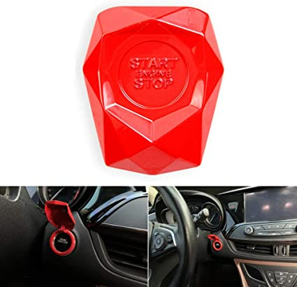 1 Piece Black ZesHIZE Car Start Engine Stop Button Cover Universal Car Push Button Switch Cover Decorative Engine Start Button Cover Sticker Aluminium Alloy Push Button Cover