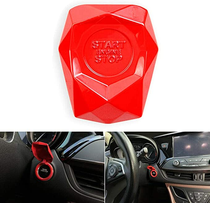 N//Y Car Start Button Cover Universal Anti-scratch Auto Engine Start Stop Switch Protective Cap Car Engine Start Button Cover Button Decoration