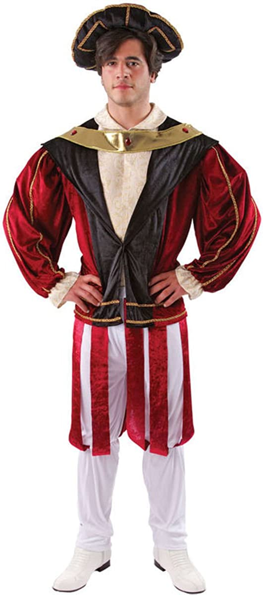 Mens Tudor Lord Shakespeare Book Day Historical Fancy Dress Costume Outfit M /& L