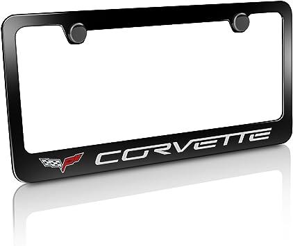 Chevrolet Corvette C6 Black Metal license Plate Frame Holder