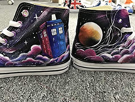 e50b68cf73 Doctor Who Hand Painted Shoes For Women Men Custom Sneakers Painted  Sneakers Hand Painted Shoes DW. Loading Images.