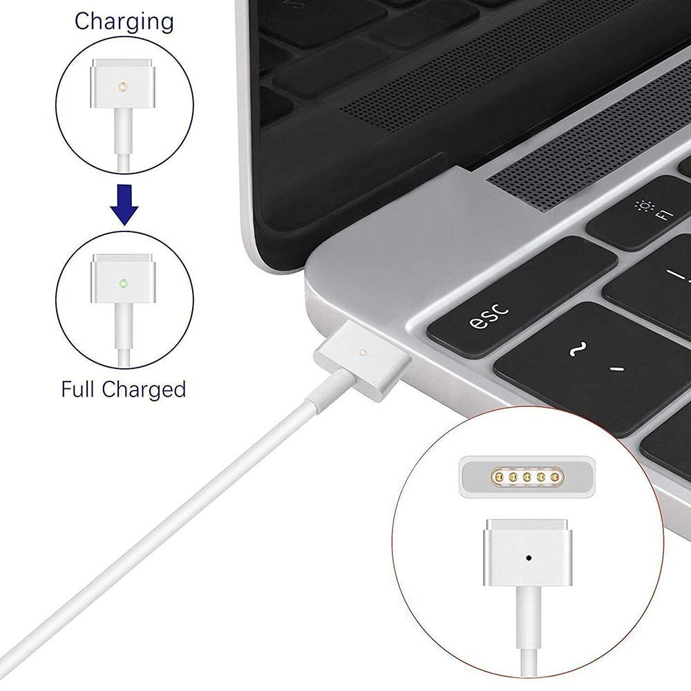 Mac Book Pro Charger, AC 60W Magsafe2 T-Tip Power Adapter Charger for MacBook Pro 13.3'' Retail Package A1425 A1435 A1465 A1502 (Made After Late 2012) by DDSUN (Image #7)