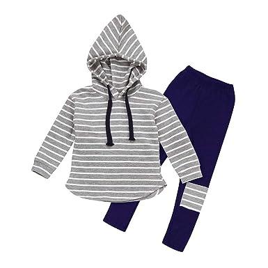 fce20a235 Amazon.com  Clearance 3-7T Kids Girls Boys Long Sleeve 2PCS Clothes ...