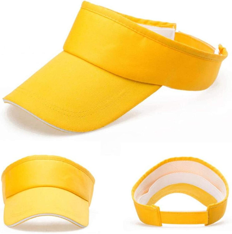 Men Women Summer Solid Visor Sun Plain Hat Casual Ajustable Empty top Unisex Sunscreen Cap