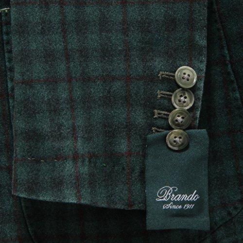 Uomo Giacca Cachemire Verde Lana Giacche Men Coats Jackets Brando 7553l aq5wO5