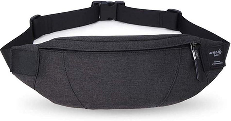 New Men Canvas Zipper Pockets Fanny Pack Chest Waist Bag Casual Phone Bag Wallet