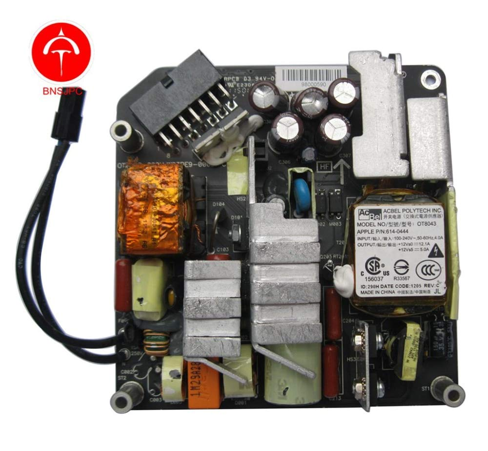 ShineBear Power Supply 205W for iMac 21.5'' A1311 Late 2009 Mid 2010 Mid/Late 2011 614-0444 OT8043 - (Cable Length: 0.2m) by ShineBear