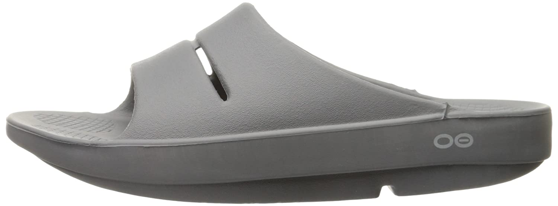 OOFOS Unisex Ooahh Slide Sandal B01LAK7V3C 6 B(M) US Women / 4 D(M) US Men|Slate