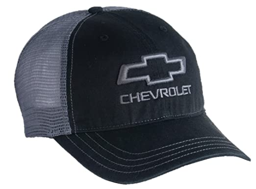 7c31be7a02b Amazon.com  Chevrolet Bowtie Garment Washed Snapback Hat for Chevy (Black)   Clothing