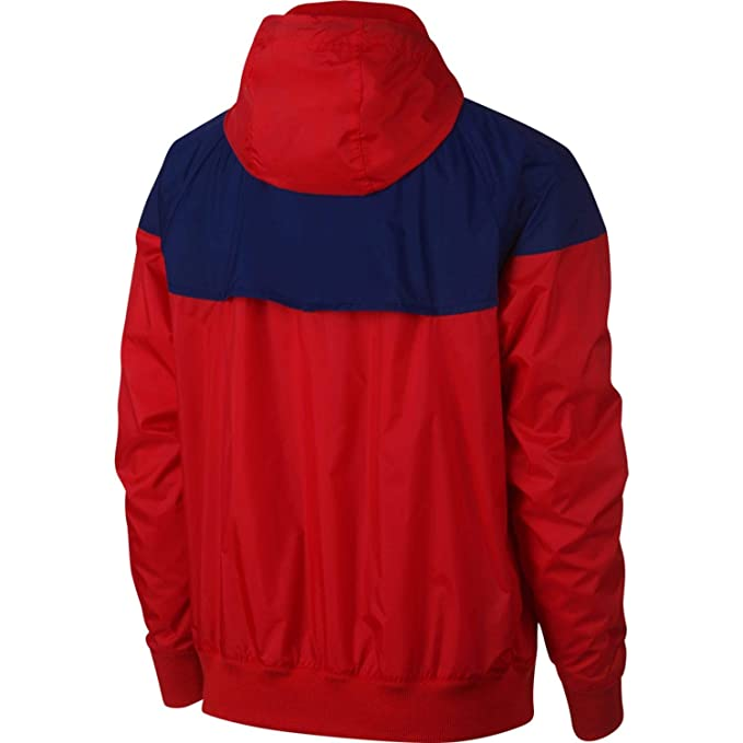 Nike Mens Windrunner Hooded Track Jacket University Red/Blue ...
