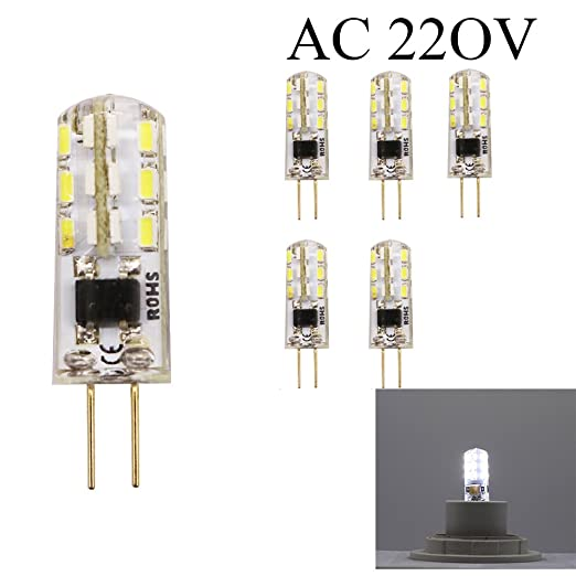 ShenSuai - Lote de 5 bombillas LED G4 de 1,5 W, 120 lm