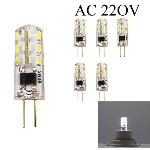 Bombillas cápsulas G4 LED AC 220V/AC 12V 1.5 W 24 x 3014 SMD 6000