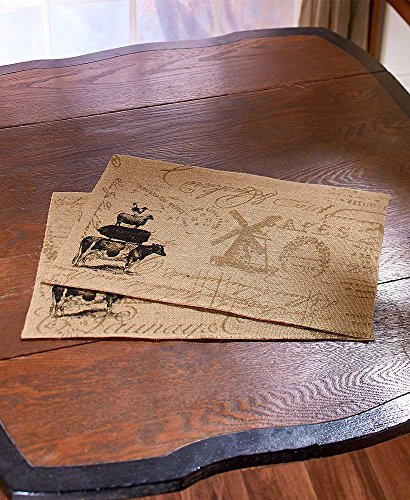 - The Lakeside Collection Set of 2 Farm Life Placemats