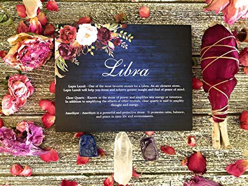 Libra Zodiac Crystal Gift Set