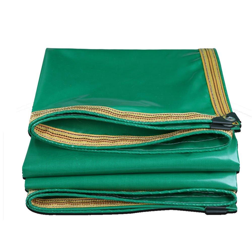 Tarpaulin HUO Wasserdichte Plane, Durable Canopy Canvas Sheet, Anti-UV-Reissfestigkeit (Farbe   Grün, größe   5  8.7m)