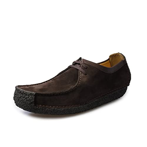 Clarks Natalie Men Marrone Scamosciata Scarpe  Amazon.it  Scarpe e borse d7a798e5772