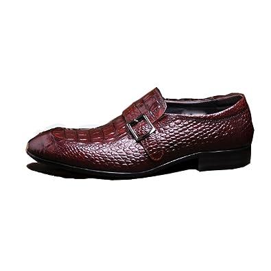 NIUMJ Scarpe da Uomo in Pelle Set di Piedi Appuntito Scarpe di Tendenza  Scarpe Britanniche Scarpe 3899970147e