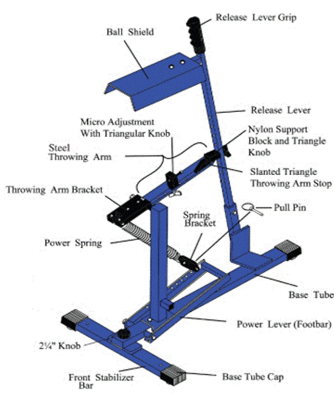 Power Spring for Blue Flame Ultimate Pitching Machine by UPM 45 Spring