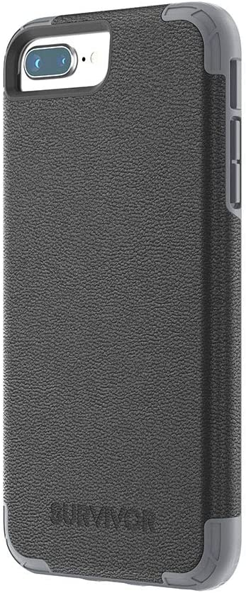 Griffin, iphone 7 plus/6s plus/6 plus ,Survivor Prime, Leather Protective Case, Black