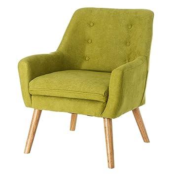 Sillón tapizado de Microfibra Verde Moderno para salón ...