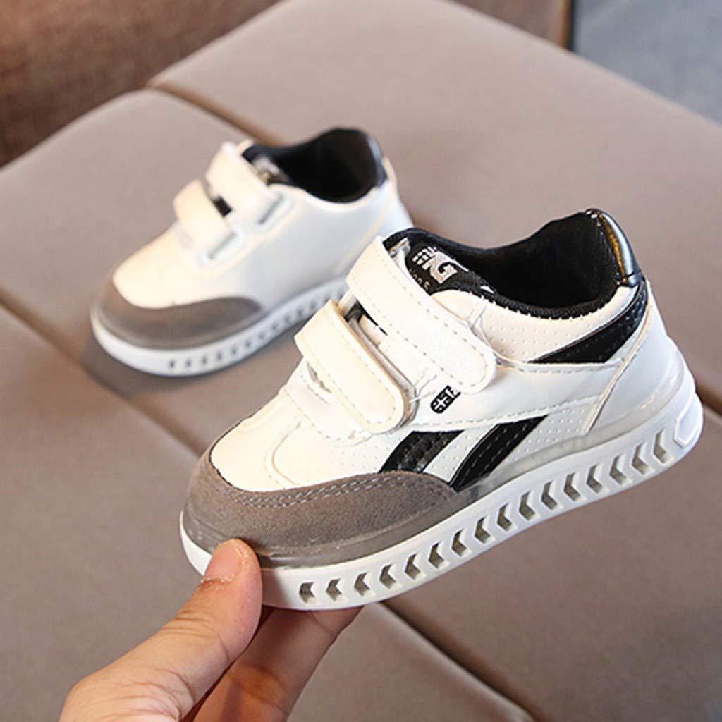 Randolly Toddler Shoes Children Baby Girls Boys Letter Led Light Luminous Running Sport Sneaker Shoes