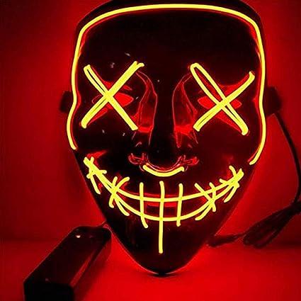 BangShou Halloween LED Máscaras Purga de Máscaras de Halloween Craneo Esqueleto Mascaras para la Navidad Halloween Cosplay Grimace Festival Party Show ...