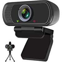 Webcam, HD Webcam 1080P with Privacy Shutter and Tripod Stand, Pro Streaming Web Camera with Microphone, Widescreen USB…