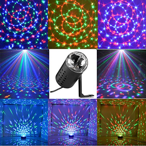 New <1&Small Size> Projector DJ Disco KTV Light Stage R&G Party Lighting Show Plug Black (Negroes Book Of Show)