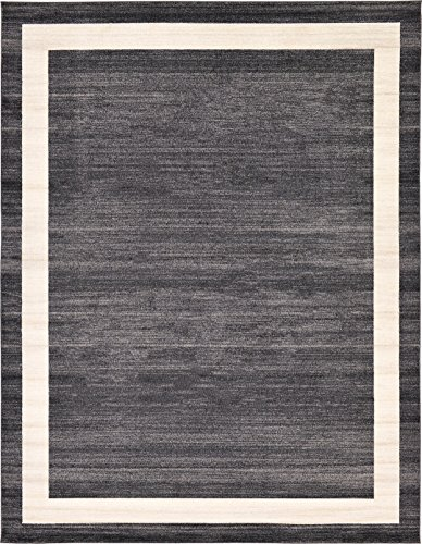 Over-dyed Modern Vintage Rugs Black 10' x 13' FT Palma Collection Area Rug - Perfect for any Place (Rug Collection 13 Modern)